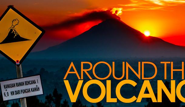 Autour du volcan